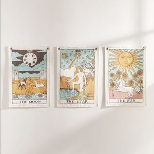 Urban Outfitters Tarot Card Tapestry Set